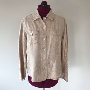 Chico's Cream Lightweight Silk Top/Jacket